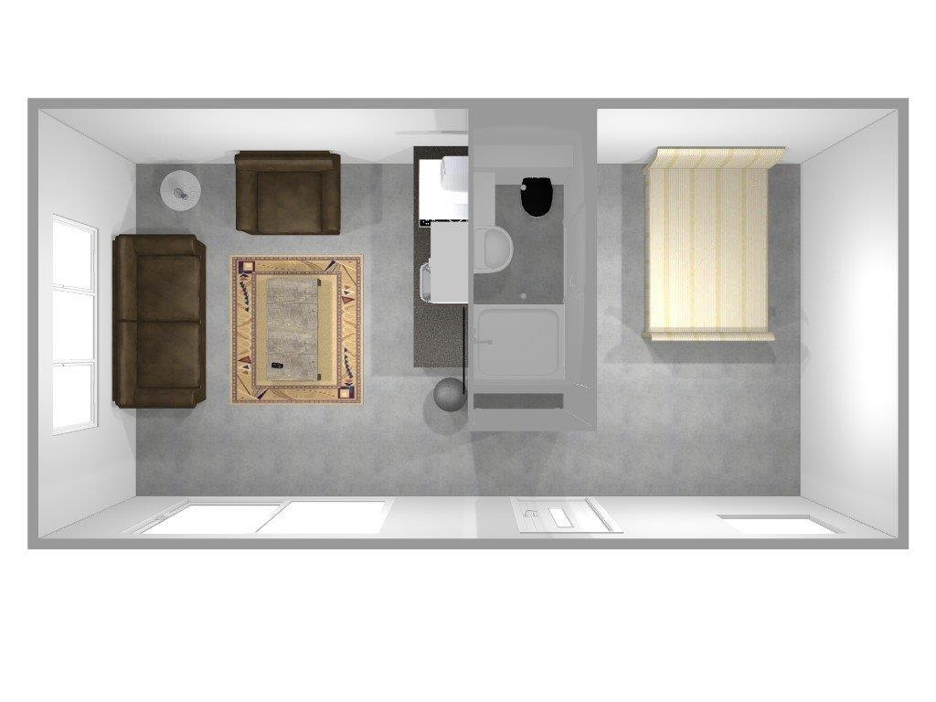 thumbnail_Tiny House met interieur bovenperspectief