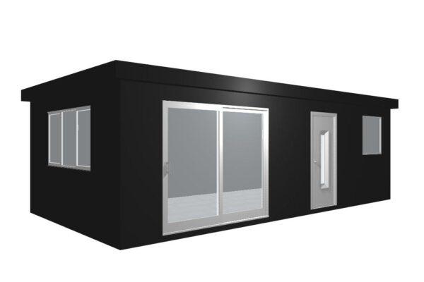 thumbnail_Tiny House met staanders en ramen en deuren en muren perpsectief