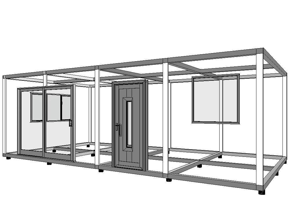 thumbnail_Tiny House met staanders en ramen en deuren